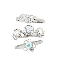 Crystal Bubble Stacking Rings
