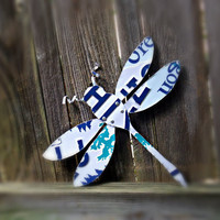 Upcycled Oregon License Plate Dragonfly