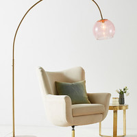 Rose Arched Glass Floor Lamp