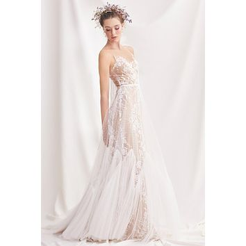 Willowby by Watters 52715 Capricorn Illusion Tulle Lace A-Line Wedding Dress