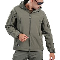 Mens Army Style Wind and Waterproof Jacket