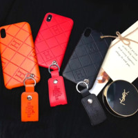 Hermes fashion new letter print mobile protective case iphone case three color