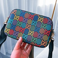 Gucci 2020 New Camera Jumping Candy Marmont Shoulder Bag Colorful Print