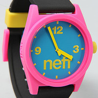 The Daily Watch in Cyan, Pink, & Black