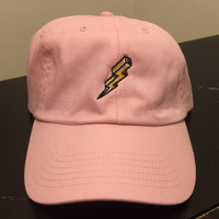Pink Lightning Dad Hat