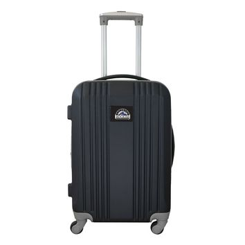 Colorado Rockies Luggage Carry-on 21in Hardcase two-tone Spinner 100% ABS-GRAY