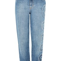 Logo Applique Denim Jeans by GUESS Originals | Topshop