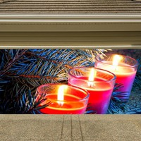 Christmas Garage Door Cover Banners 3d Holiday Outside Decorations Outdoor Decor for Garage Door G59
