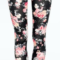 Romantic Rose Leggings Yoga Pants Women's Romantic Floral Print Leggings Workout Pants Spandex Tights Women Clothing Fashion