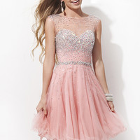 2015 Coral Cap Sleeve Beaded Open Back Short Cocktail Dress [Tony Bowls TS11477 Coral] - $182.00 : Cheap Custom Prom Dresses Uk,Discount Bridesmaid Dresses,Special Occasion Dresses Online Shop,Homecoming Dresses 2015 For Girls,Alisa Dresses Designer,Shoes