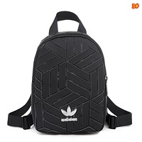 Adidas new clover casual backpack female bag diamond mini MINI backpack Black
