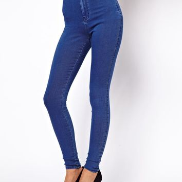 ASOS | ASOS Rivington High Waist Denim Jegging in Mid Vintage Wash at ASOS