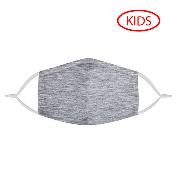 HEATHER GRAY - KIDS MASK WITH (4) PM 2.5 CARBON FILTERS