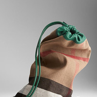 The Little Duffle in Check Jute