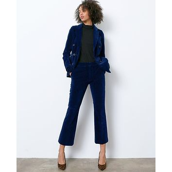 Softly Whisper Velvet Trouser Pants - Navy
