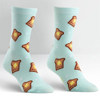 Yum Toast Crew Socks