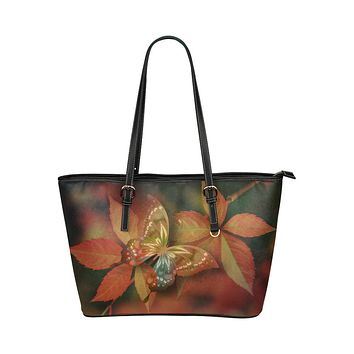 Tote Bags, Brown Butterfly Style Bag