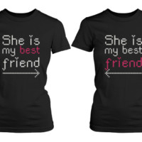 Female Friendship Matching Black Shirts - 365 Printing Inc