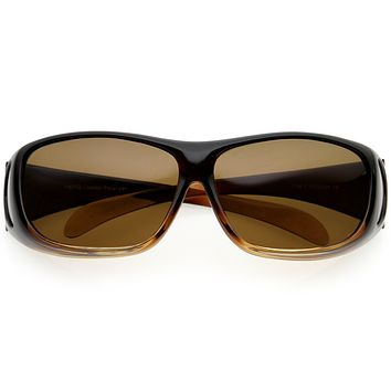Full Wrap Around Protection Polarized Lens Sunglasses Goggles D190