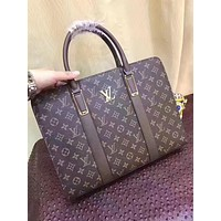 LV Louis Vuitton MEN'S MONOGRAM CANVAS BRIEFCASE BAG
