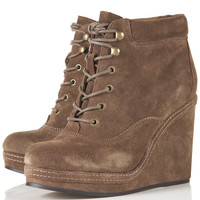 ANDREAS Wedge Lace Up Boots - Boots - Shoes - Topshop