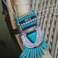 Set In Stone Antique Silver & Turquoise Necklace