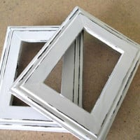 Distressed Picture Frames, Distressed Frames, Open Picture Frames, Open Frames, White Picture Frames, White Frames, Distressed White Frames