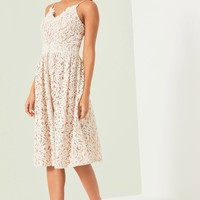 LITTLE MISTRESS WHITE MIDI DRESS