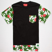 Ayc Royal Kush Mens Pocket Tee Black  In Sizes