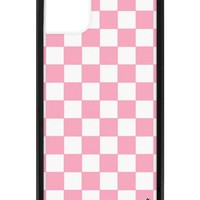 Pink Checkers iPhone 11 Case