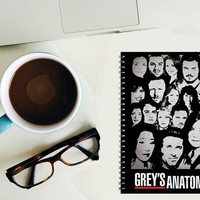 Grey's Anatomy spiral notebook - Geek - Nerd -  book lover Gift