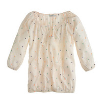 Chambray dot peasant top - shirts & tops - Women's new arrivals - J.Crew