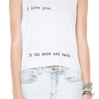 Brandy ♥ Melville |  I Love You To The Moon And Back Tank - Just In