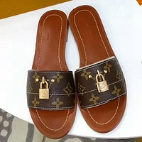 Louis Vuitton Woman Fashion Casual Slipper Shoes