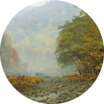 Paul Moore's Fall in Big South Fork National Park Circle wall decal