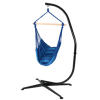 Sunnydaze Decor Oasis Hanging Hammock Swing and Stand