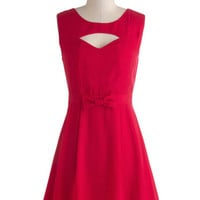 ModCloth Vintage Inspired Mid-length Sleeveless A-line Bright at the Theater Dress