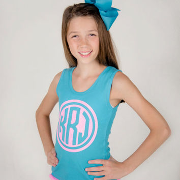 Glitter Monogrammed Tank top Monogram Tank top, Girl's and Women's sizes available, Mother Daughter Tank tops