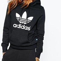 Adidas Prints Trendy Long Sleeve Hoodie Sweater