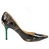 Jimmy Choo Heels Smoke Print Patent Leather S 7.5 | Pre-Owned Used