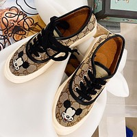 Gucci home 2020 limited color isney joint name Mickey into shoes khaki