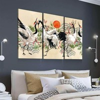 Dance of the Cranes Canvas Set