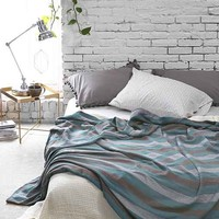 Magical Thinking Diamond-Stripe Bed Blanket-