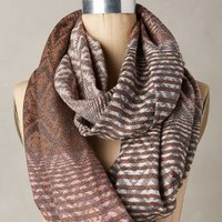 Luster Stripe Infinity Scarf by Anthropologie in Pink Size: One Size Scarves