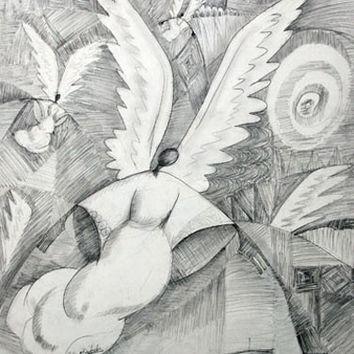 Wings of Mercy (Offset Lithograph)