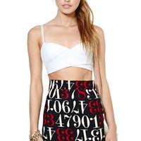 Moschino Numbers Game Pencil Skirt