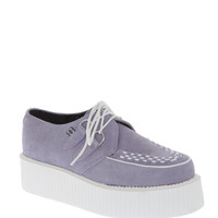T.U.K. Lavender Suede Mondo Creepers | Hot Topic
