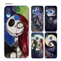 BINYEAE The Nightmare Before Christmas Transparent Hard Case Cover Coque Shell for Huawei P20 Lite 10 Lite P Smart