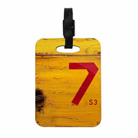 "Steve Dix ""7S3"" Yellow Painting Decorative Luggage Tag"