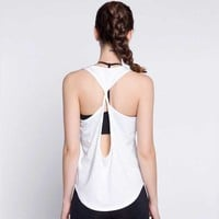Women Quick Dry Fitness Tops Summer Sexy Tank For Exercise